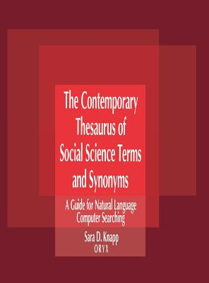 Cover for Contemporary Thesaurus of Social Science Terms and Synonyms