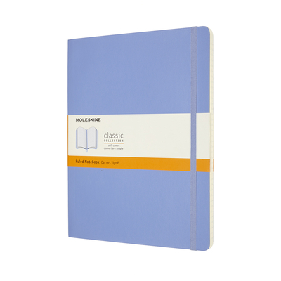 Moleskine Classic Notebook, Extra Large, Ruled, Hydrangea Blue, Soft Cover (7.5 X 9.75) Cover Image