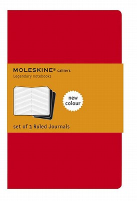 Moleskine Cahier Journal (Set of 3), Pocket, Ruled, Cranberry Red, Soft Cover (3.5 x 5.5) (Cahier Journals) Cover Image