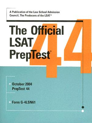 The Official LSAT Preptest: Form G-4lSN61 Cover Image