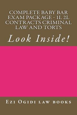 Complete Baby Bar Exam Package - 1L 2L Contracts Criminal law and Torts: Look Inside! Cover Image
