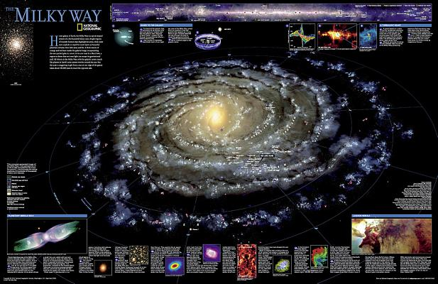 National Geographic: The Milky Way Wall Map (31.25 X 20.25 Inches) (National Geographic Reference Map) Cover Image