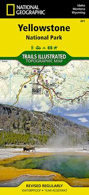 Yellowstone National Park (National Geographic Trails Illustrated Map #201) Cover Image