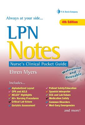 LPN Notes: Nurse's Clinical Pocket Guide Cover Image