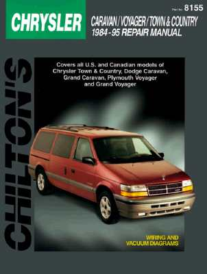 Chrysler Caravan, Voyager, and Town & Country, 1984-95 (Chilton's Total Car Care Repair Manuals) Cover Image