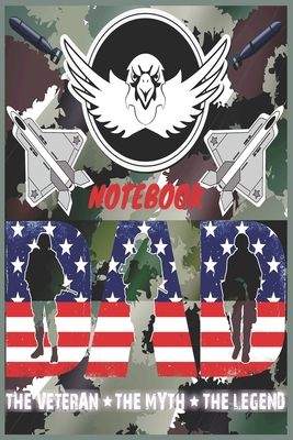 Veteran DAD Notebook: Armed Forces Notebook with Army, Marine Corps, Navy, Air Force, and Coast Guard Terms for US Military War Veterans Cover Image