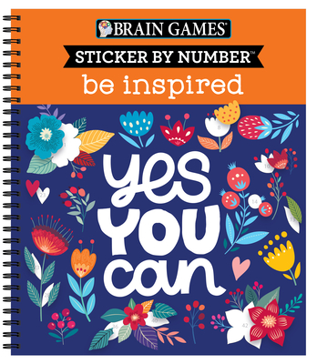 Brain Games - Sticker by Number: Be Inspired - 2 Books in 1 Cover Image