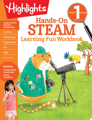 First Grade Hands-On STEAM Learning Fun Workbook (Highlights Learning Fun Workbooks) Cover Image