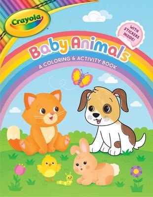 Crayola Baby Animals: A Coloring & Activity Book (Crayola/BuzzPop) Cover Image