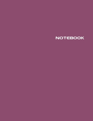 Notebook: Lined Journal - Stylish Euphoric Magenta - 120 Pages - Large 8.5 x 11 inches - Composition Book Paper - Minimalist Des Cover Image