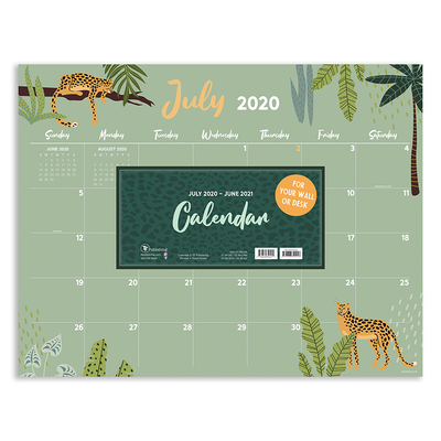 Cal 2021- Monthly Theme Academic Year Desk Pad Cover Image