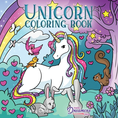 Unicorn Coloring Book: For Kids Ages 4-8 (Coloring Books for Kids #4) Cover Image