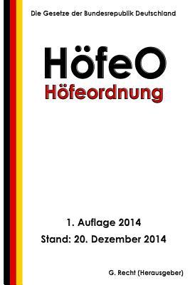 Höfeordnung - HöfeO Cover Image