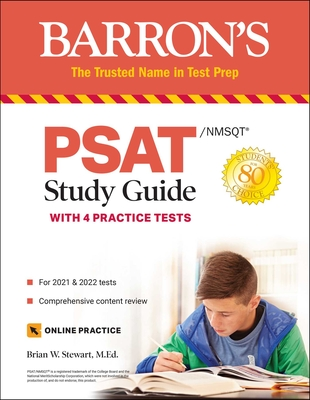 PSAT/NMSQT Study Guide: with 4 Practice Tests (Barron's Test Prep) Cover Image