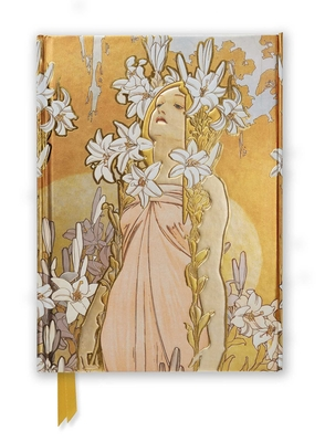 Mucha: The Flowers, Lily (Foiled Journal) (Flame Tree Notebooks #52) Cover Image