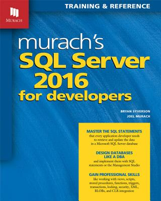 Murach's SQL Server 2016 for Developers Cover Image