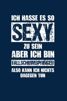 Fallschirmspringen: Sexy Fallschirmspringer: Notizbuch / Notizheft für Skydiving A5 (6x9in) dotted Punktraster Cover Image
