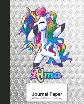 Journal Paper: ALMA Unicorn Rainbow Notebook Cover Image