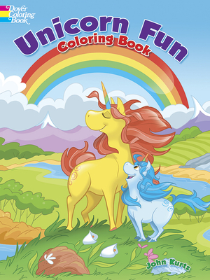 Unicorn Fun Coloring Book Cover Image