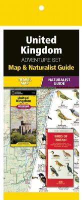 United Kingdom Adventure Set: Map & Naturalist Guide Cover Image