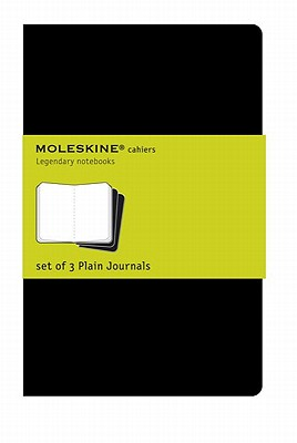 Moleskine Cahier Journal (Set of 3), Large, Plain, Black, Soft Cover (5 x 8.25): set of 3 Plain Journals (Cahier Journals) Cover Image