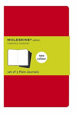 Moleskine Cahier Journal (Set of 3), Pocket, Plain, Cranberry Red, Soft Cover (3.5 x 5.5) (Cahier Journals) Cover Image