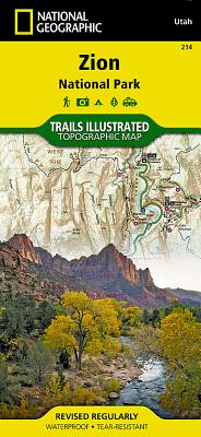 Zion National Park (National Geographic Trails Illustrated Map #214) Cover Image