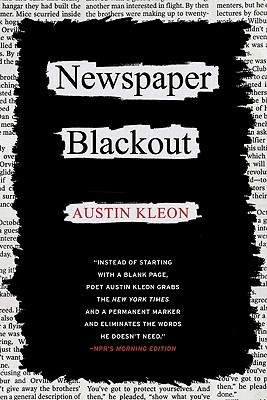 Newspaper Blackout Cover