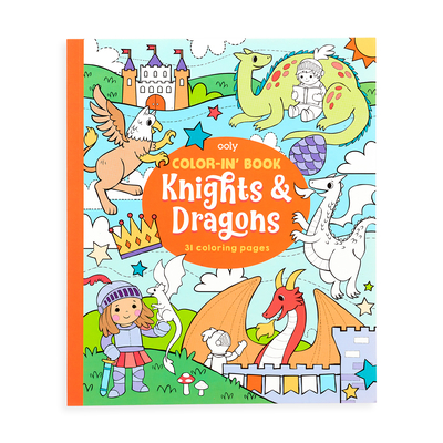 Colorin Book - Knights & Dragons Cover Image