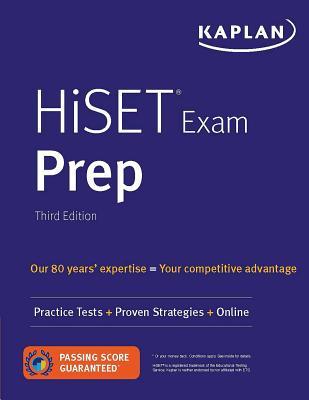 HiSET Exam Prep: Practice Tests + Proven Strategies + Online (Kaplan Test Prep) Cover Image