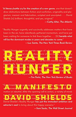 Reality Hunger: A Manifesto Cover Image