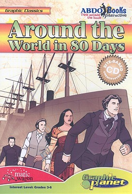 Around the World in 80 Days (Graphic History (Graphic Planet)) Cover Image