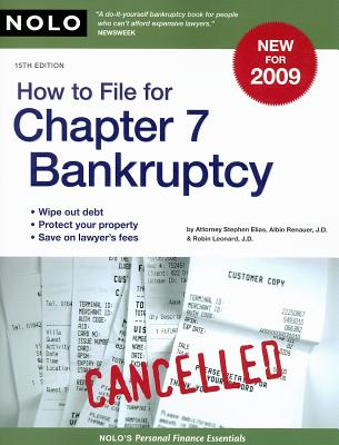 How to File for Chapter 7 Bankruptcy Cover