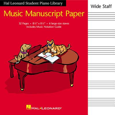 Hal Leonard Student Piano Library Music Manuscript Paper - Wide Staff: Wide Staff Cover Image