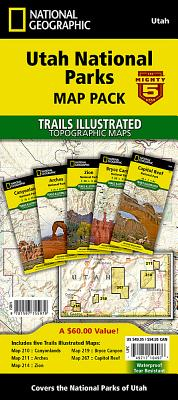 Utah National Parks [map Pack Bundle] (National Geographic Trails Illustrated Map) Cover Image