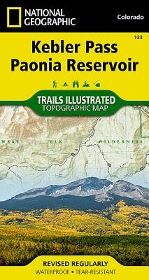 Kebler Pass, Paonia Reservoir (National Geographic Trails Illustrated Map #133) Cover Image