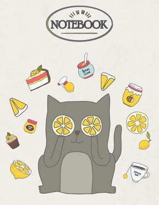 Notebook: Brown cat on cream cover and Dot Graph Line Sketch pages, Extra large (8.5 x 11) inches, 110 pages, White paper, Sketc Cover Image