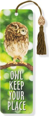 Beaded Bkmk Owl Keep Your Place Cover Image