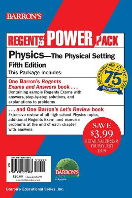 Regents Physics Power Pack: Let's Review Physics +  Regents Exams and Answers: Physics (Barron's Regents NY) Cover Image