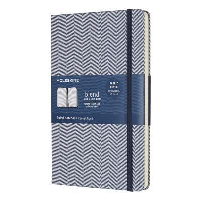 Moleskine Limited Edition Blend Collection Notebook, Large, Ruled, Blue (5 x 8.25) Cover Image