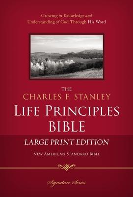 Charles F. Stanley Life Principles Bible-NASB-Large Print Cover Image