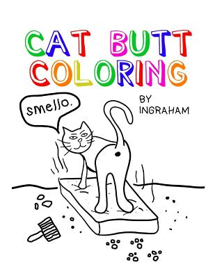 Cat Butt Coloring Cover Image