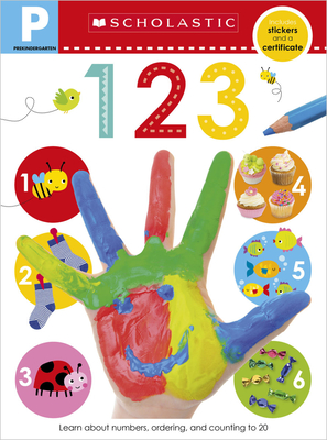 123 Pre-K Workbook: Scholastic Early Learners (Skills Workbook) Cover Image