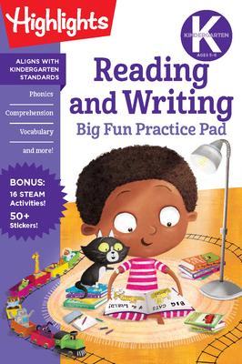 Kindergarten Reading and Writing Big Fun Practice Pad (Highlights Big Fun Practice Pads) Cover Image