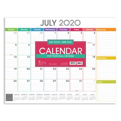 Cal 2021- Rainbow Blocks Academic Year Desk Pad Cover Image