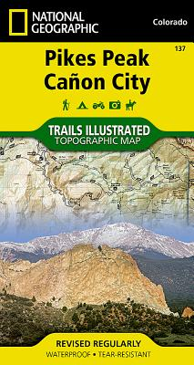 Pikes Peak, Cañon City (National Geographic Trails Illustrated Map #137) Cover Image