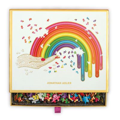 Jonathan Adler Rainbow Hand 750 Piece Shaped Puzzle Cover Image