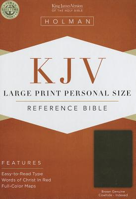 Cover for KJV Large Print Personal Size Reference Bible, Brown Genuine Cowhide Indexed