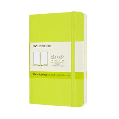Moleskine Classic Notebook, Pocket, Plain, Lemon Green, Soft Cover (3.5 x 5.5) Cover Image