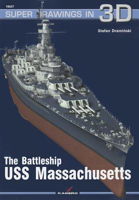 The Battleship USS Massachusetts (Super Drawings in 3D #1602) Cover Image